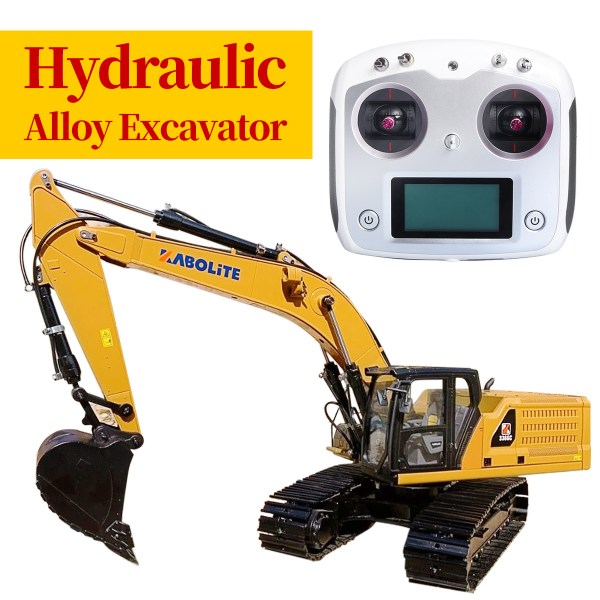 Kabolite No.336 R/C Excavator, 1:16 Scale Model RC Hydraulic Alloy Excavator, Caterpillar CAT 336 GC Hydraulic Excavator All Metal & Full Metal Remote Control Hydraulic Excavator. (RC Heavy Equipment, RC Construction Vehicle, RC Earthwork Operations Machinery)