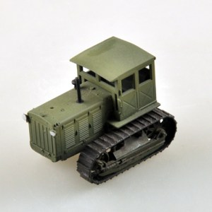 1/72 Scale Miniature Model, (Trumpeter & HobbyBoss) EasyModel 35114 Russian ChTZ S-65 Tractor with Cab (Stalinets S-65 Tracks Tractor with Cab) Completed Painted Weathered (Already Assembled & Finished Model) Scale Model, (Suitable for Collection & Collect, War Battlefield Diorama Scene, Exhibits, Decorations, Gift)