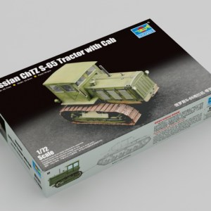 Trumpeter 07111 Plastic Scale Model Kits, 1/72 Russian ChTZ S-65 Tractor with Cab (Stalinets S-65 Tracks Tractor with Cab) Model Building Kits. WWII Soviet Army Agricultural Military Armor Tractor Plastic Model Making Kit