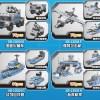 635 PCS 8 in 1, 25 Kinds MOC Ideas, War Game Model Kit, Boys Kids Child Military Army Military Vehicle, Fighter Plane, Battleship Playset Toy. USS Missouri Battleship XINGBAO 13004 Compatible Building Blocks Bricks