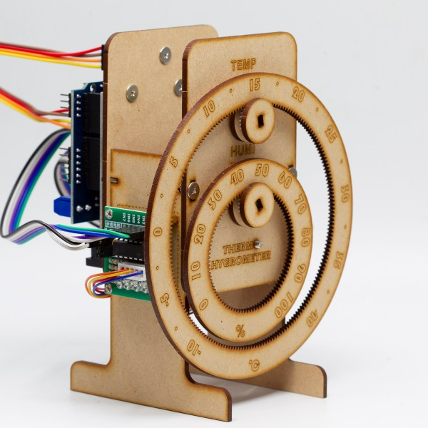 Arduino projects Temperature hygrometer, Arduino example DIY Wooden thermometer and hygrometer, Arduino programming Practical objects, gifts, decorations.
