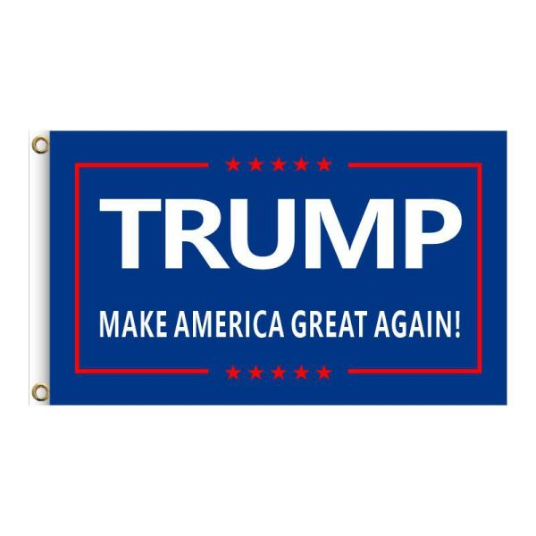 """Blue """"TRUMP MAKE AMERICA GREAT AGAIN!"""", 2FT, 3FT, 5FT, Donald Trump for President 2024, TRUMP 2024 Banner, TRUMP 2024 Flag, Trump 2024 United States Presidential Plection Merchandise"""