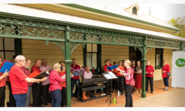 The Waverley Hub spreads good cheer with carolling at Waverton Station, Christmas 2019.