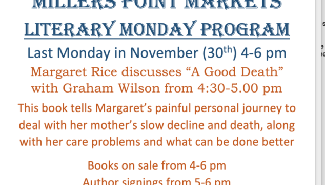 Millers Point Markets Literary Monday Program