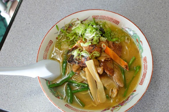 Broiled Pig Innards Miso Ramen -Himawari Head Office in Asahikawa-