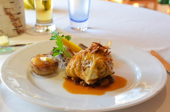 French Cuisine -Maccarina in Makkari- Roasted Lamb Wrapped in Chinese Cabbage