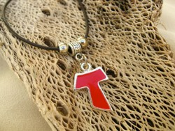 Tau cross Camino symbolic necklace