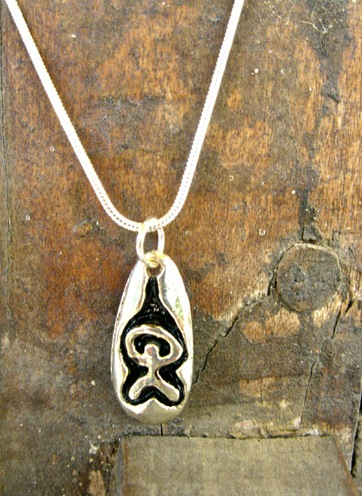 Indalo tag pendant - a gift from Spain to inspire good luck