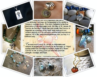 Santiago jewelry from El Camino - the Way of St James in Spain