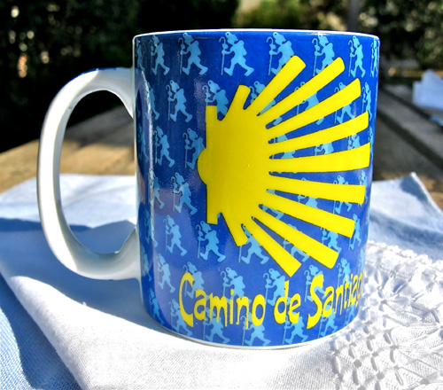 This mug from Santiago de Compostela in north Spain is an object of inspiration for many who have walked the camino Way of St James