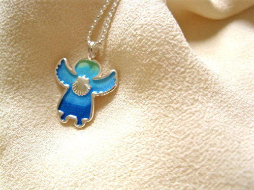 Keep safe with Angel charm necklace