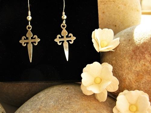 St James cross earrings ideal safe travel gift