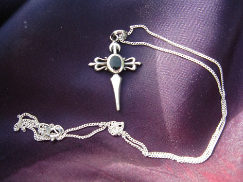 Cross of St James necklace and azabache