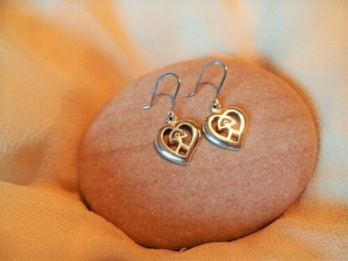Indalo earrings - pendientes con corazon