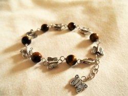 Butterfly bracelet with Tigers Eye