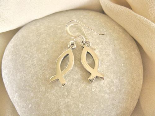 Christian fish earrings