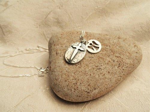 Cross with Angel charm