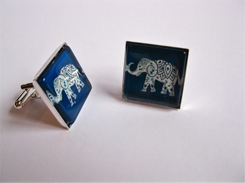 Elephant cufflinks for strength