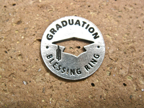 Graduation blessing ring