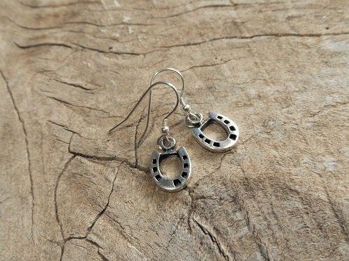 Horseshoe earrings for luck