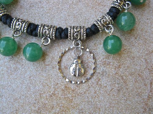 Ladybird and Aventurine jewellery