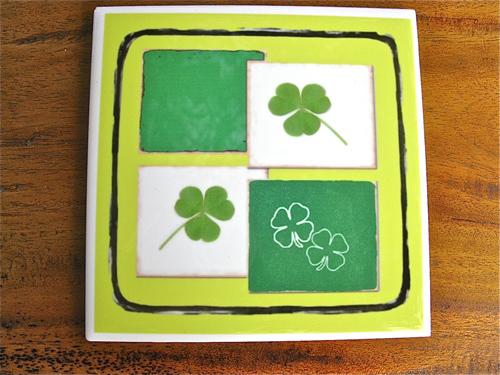 Lucky clover tiles