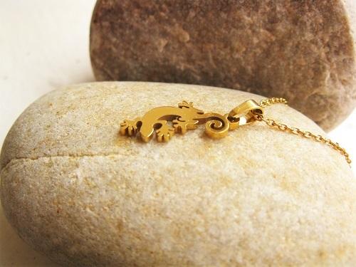 Lucky gecko necklaces