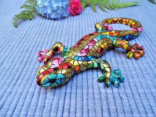 Spanish ceramic Gecko for good luck