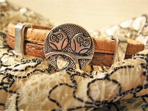 Wise guardian owl bracelet