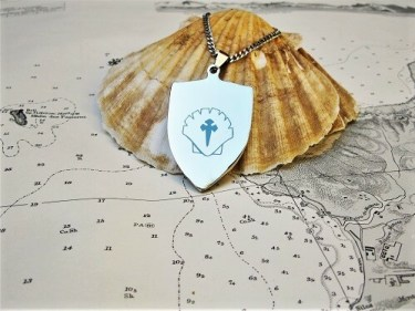 Shield necklace for safekeeping