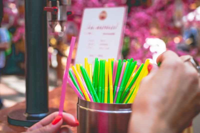 assorted coloured straws