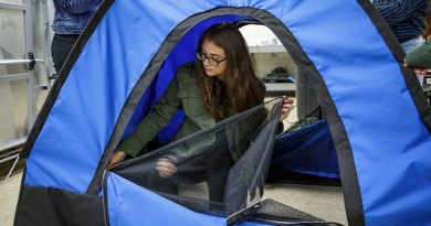 All-Girl Engineer Team Invents Solar-Powered Tent For Homeless