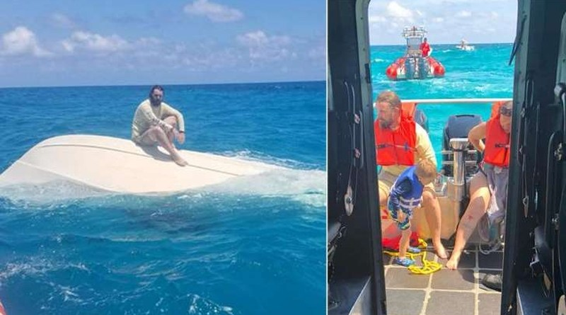 Teens Help Coast Guard Rescue Boaters After Vessel Capsizes Off Florida Keys