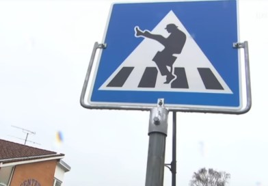 Sign Encouraging 'Silly Walks' at Road Crossing Leads to Hilarious Video of Pedestrians