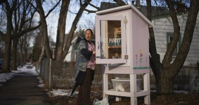 Inspired By Little Free Libraries, A Free Pantry Helps Feed Hungry Neighbors In St. Paul