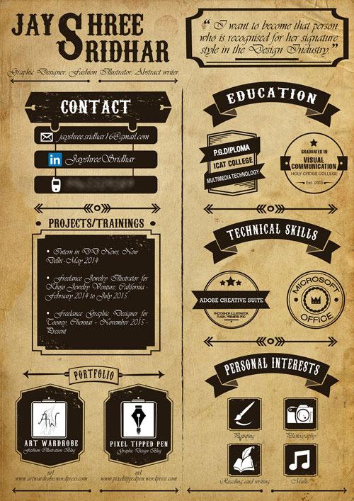 creative graphic design resume