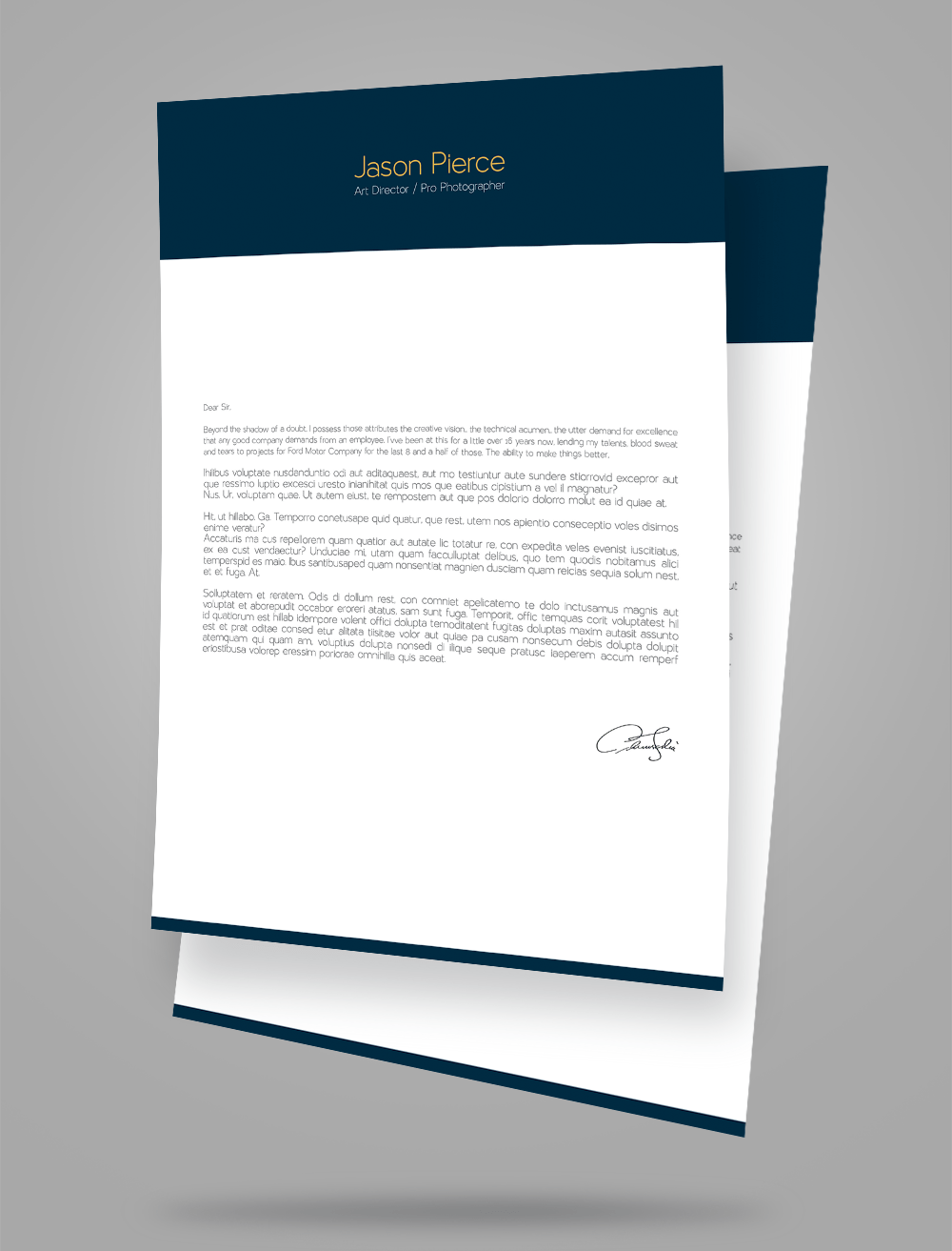 love letter template word