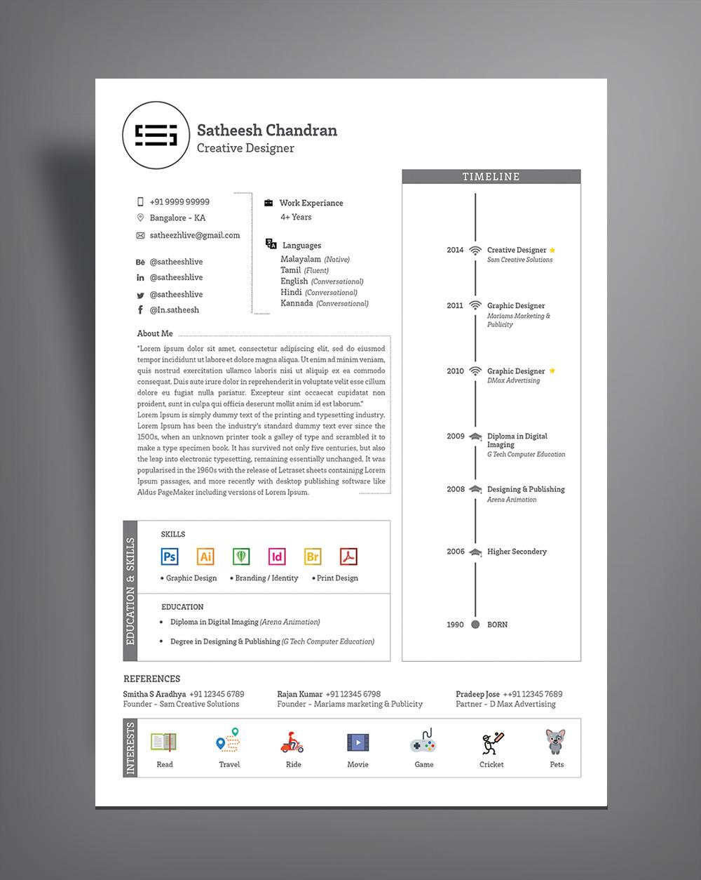 cv template design docx