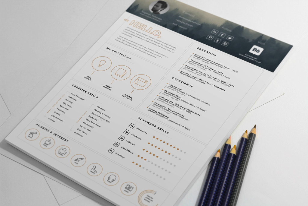 free stylish cv template word