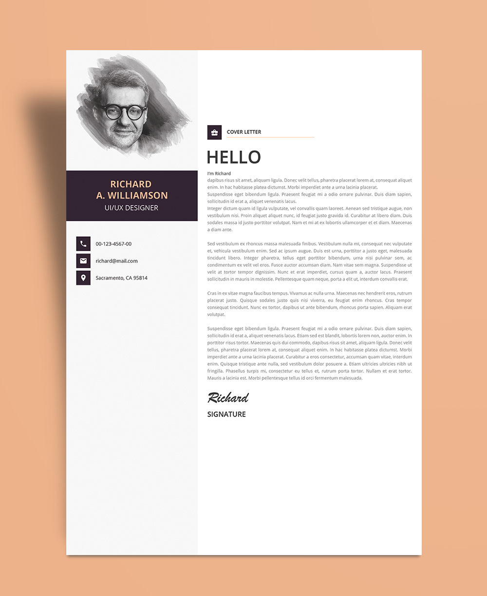 Creative Cover Letter Design  World of Reference