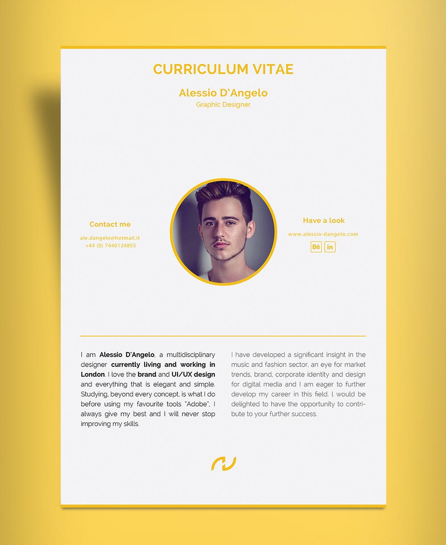 Free Professional 2 Page Resume Design CV Template Ai File  Good Resume