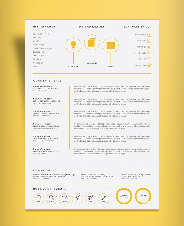 layout of resume