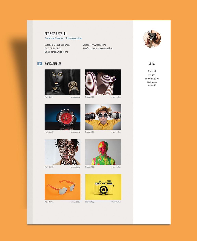 resume template graphic design download