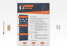 Free Black Elegant Resume CV Design Template For Art