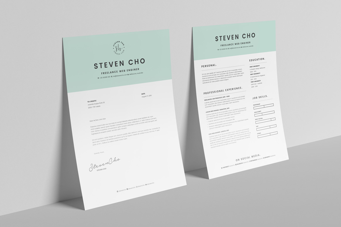 Resume Indesign Free Minimalist Resume Cv Design Template With Cover