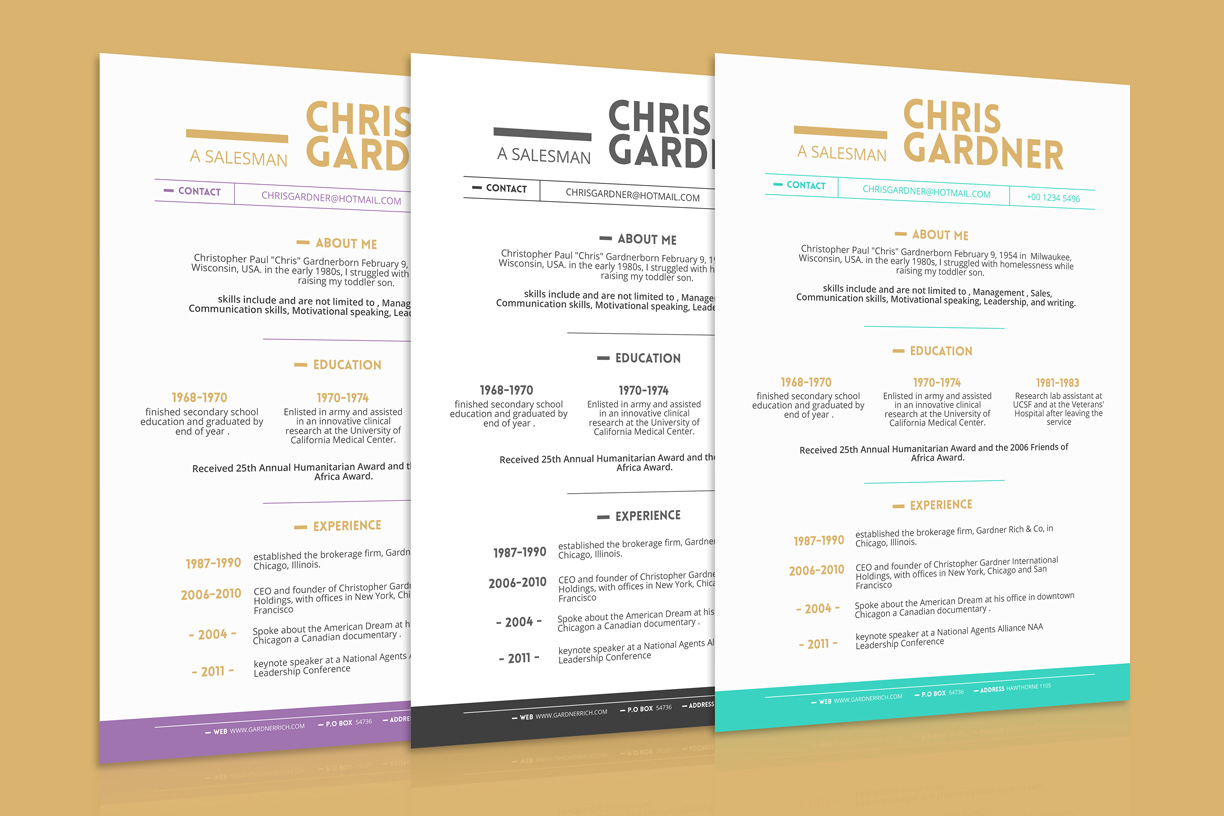 Resume Ppt Template Free Simple Resume Cv Design Template With Business Card