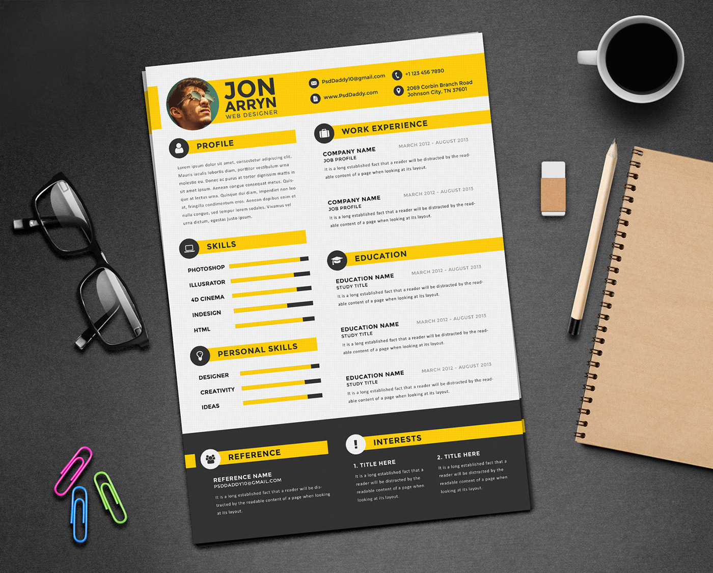 Free Creative Resume Templates Word Free Creative Resume Cv Design Template With 3 Colors