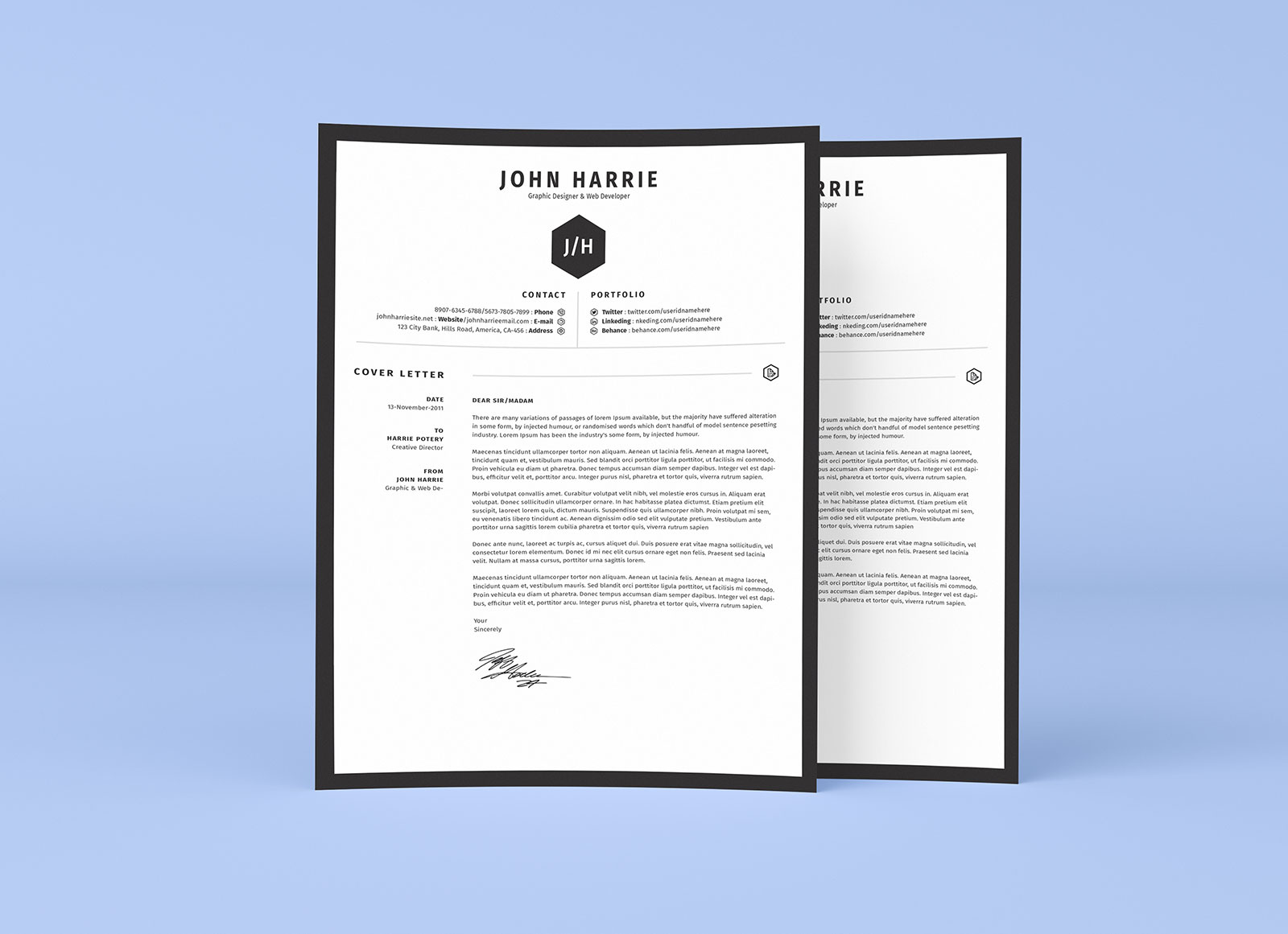 Free Clean Resume CV  Cover Letter Template in Word PSD  Ai  Good Resume