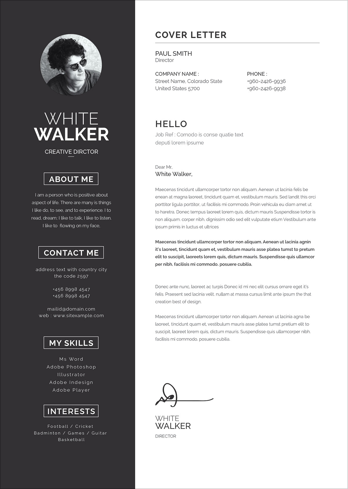 What Size Font Should A Resume Be Typed In Free Clean Resume Template And Cover Letter In Word Psd