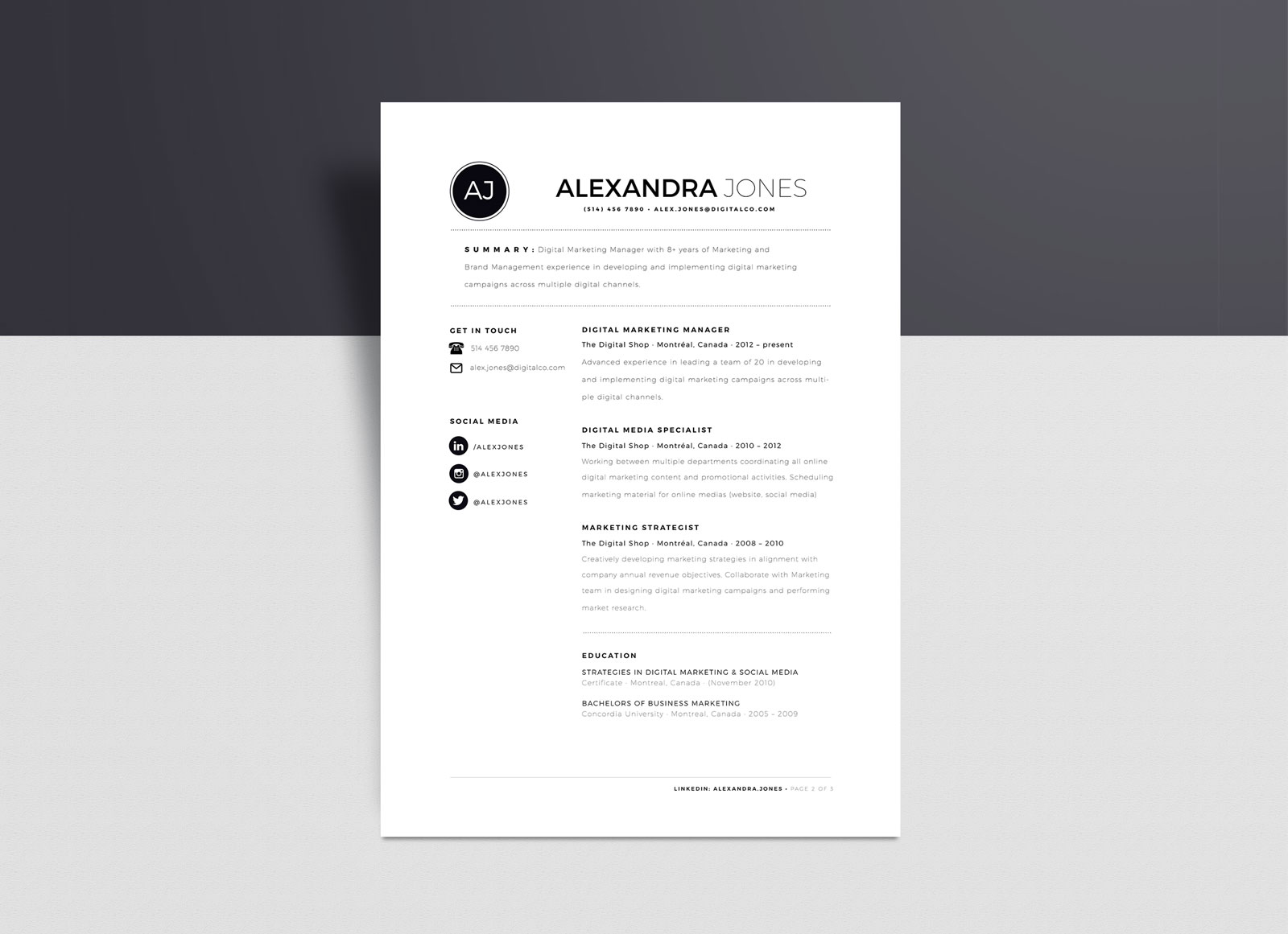 Format Resume Word Free Minimalist Resume Template In Indd Ai Word Format Good